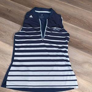 Adidas navy Bay Point golf sleeveless blouse small